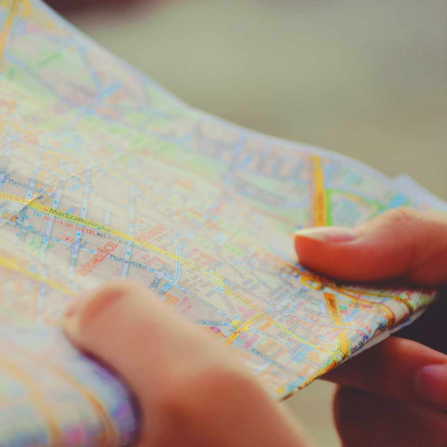 Image of person holding map