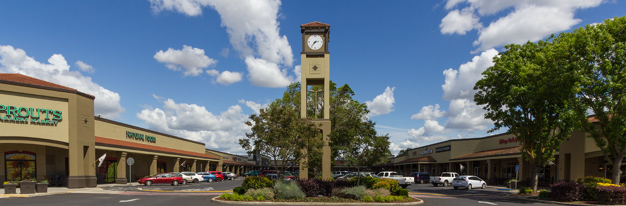 Garden-style shopping experience of McHenry Village